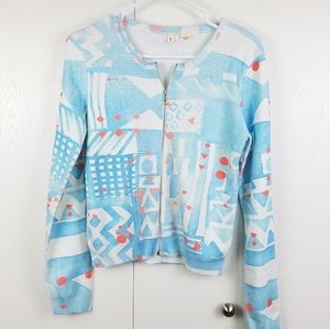 Anthropologie moth zip-up cardigan size small